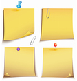 Adhesive memory Notes set vector image