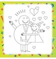 Black and White Cartoon for Coloring Book vector image