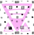 Seamless pattern with hand drawn black square vector image