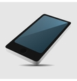 Smartphone 3D View Icon in Flat Style on Light vector image