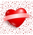 Big Red Heart with red ribbon vector image