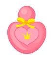 perfume pink icon cartoon style isolated on vector image