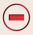 a traffic sign - dead end vector image vector image