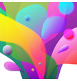 abstract colorful fluid shapes vibrant splash on vector image