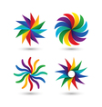 Abstract geometric circle colorful logo icon set vector image vector image