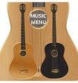acoustic guitar closeup vector image vector image