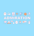 admiration word concepts banner