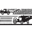 Agricultural machinery in farm vector image vector image
