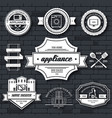 appliances label template of emblem element for vector image