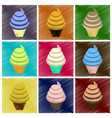 assembly flat shading style icons ice cream cone vector image