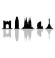 barcelona skyline vector image vector image