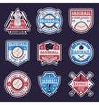Baseball Colored Emblems vector image vector image
