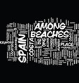 beaches of bermuda text background word cloud vector image vector image