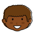 black little boy head character vector image