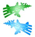 butterflies symbols vector image vector image