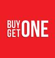 buy one get one sign drop shadow vector image vector image