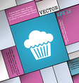 cake icon sign Modern flat style for your design vector image