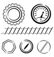 Cartoon set of industrial elements eps10 vector image vector image