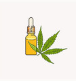 cbd oil and hemp leaf vector image