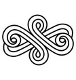 celtic scandinavian design celtic scandinavian vector image vector image