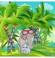 child jungle with a family elephants vector image vector image