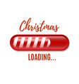 Christmas loading bar isolated on white background vector image vector image