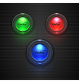 Colorful Glossy buttons lightbulb for your site vector image vector image