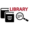 concept library icon vector image vector image