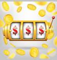 creative of 3d gambling reel vector image vector image