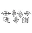 crystals forms of vintage vector image