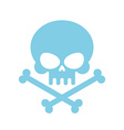 Cute Skull with bones honey kind Blue Head vector image vector image