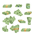 dollar paper business finance money stack of vector image vector image