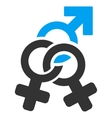 Double Mistress Flat Icon vector image