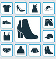dress icons set collection of briefs trunks vector image vector image