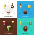 Drinks Polygonal Set vector image vector image