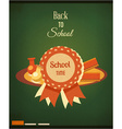Education with school badge vector image vector image