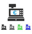 euro cashbox flat icon vector image