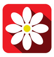 Flower Icon - Flat Design vector image