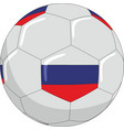 football with the symbols of the russian flag vector image vector image