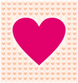 Frame border shaped from pink heart and orange vector image vector image