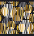 gold and black color elegant repeatable motif vector image vector image