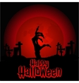 Hand zombie in the cemetery on Halloween vector image vector image