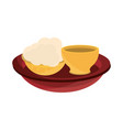 happy bhai dooj traditional food celebrated vector image vector image