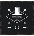 hat icon Hipster style design graphic vector image vector image