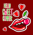 hello sweet summer poster vector image vector image