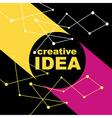 Idea concept creative background vector image vector image