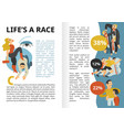life race infographics vector image vector image
