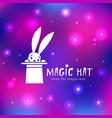 magic hat logo vector image