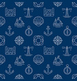 marine dark blue seamless pattern vector image vector image