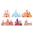 medieval castle towers fairytail mansion exterior vector image